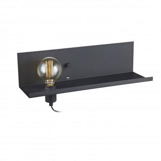 MARKSLOJD 106482 | Multi-MS Markslojd fali lámpa fényerőszabályzós kapcsoló szabályozható fényerő, USB csatlakozó 1x E27 fekete