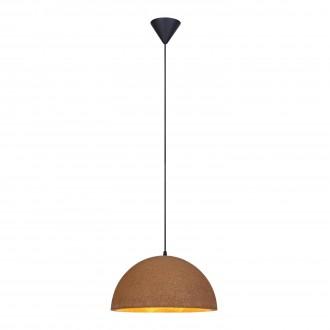 MARKSLOJD 106486 | Cork Markslojd függeszték lámpa 1x E27 fekete, barna