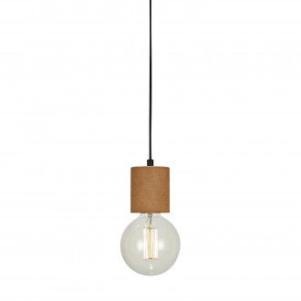 MARKSLOJD 106487 | Cork Markslojd függeszték lámpa vezeték kapcsoló 1x E27 fekete, barna