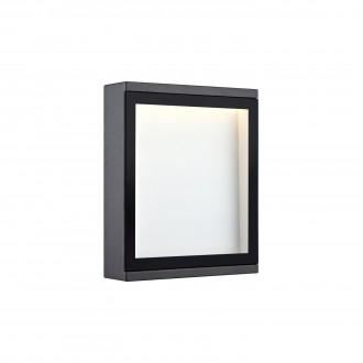 MARKSLOJD 106513 | Lamia Markslojd fali lámpa 1x LED 280lm IP44 szürke, átlátszó
