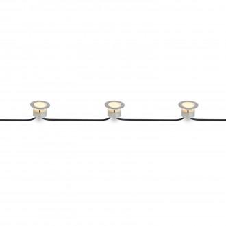 MARKSLOJD 106534 | Tradgard Markslojd beépíthető lámpa - extra 3x LED 87lm 3000K IP67 acél, átlátszó