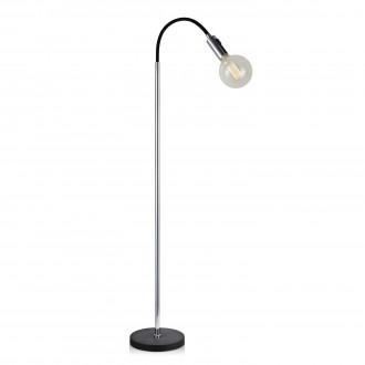 MARKSLOJD 106598 | Raw Markslojd álló lámpa 132cm kapcsoló 1x E27 fekete, króm