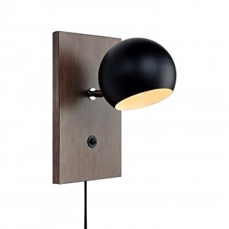 MARKSLOJD 106613 | Fletcher Markslojd falikar lámpa kapcsoló 1x E14 dió, fekete, fehér