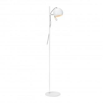 MARKSLOJD 106617 | Ball-MS Markslojd álló lámpa 138cm vezeték kapcsoló elforgatható alkatrészek 1x E14 króm, fehér, barna