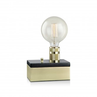 MARKSLOJD 106618 | Etui Markslojd asztali lámpa 15cm fényerőszabályzós kapcsoló szabályozható fényerő 1x E27 sárgaréz, fekete márvány