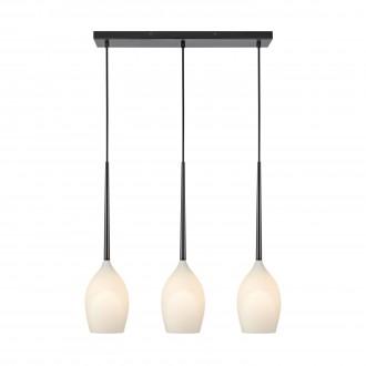 MARKSLOJD 106808 | Salut-MS Markslojd függeszték lámpa 3x E14 fekete, opál