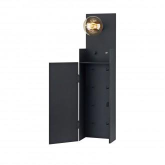 MARKSLOJD 106850 | Combo-MS Markslojd fali lámpa fényerőszabályzós kapcsoló szabályozható fényerő, USB csatlakozó, kulcstartó 1x E27 fekete