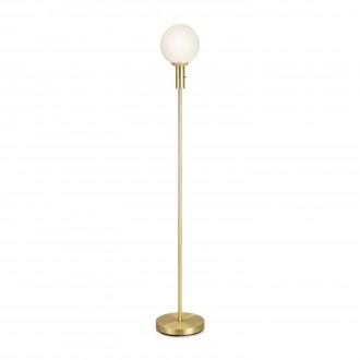 MARKSLOJD 106867 | Minna Markslojd álló lámpa 144cm kapcsoló 1x E14 sárgaréz, opál