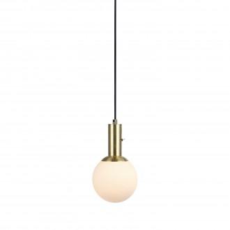 MARKSLOJD 106868 | Minna Markslojd függeszték lámpa kapcsoló 1x E14 sárgaréz, opál