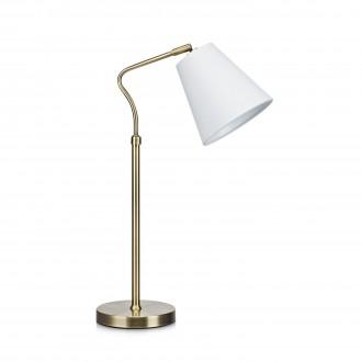 MARKSLOJD 106869 | Tindra Markslojd asztali lámpa 50cm vezeték kapcsoló 1x E14 antik, fehér