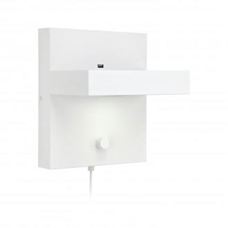 MARKSLOJD 106899 | Kubik Markslojd fali lámpa fényerőszabályzós kapcsoló szabályozható fényerő, USB csatlakozó 1x LED 525lm 3000K fehér