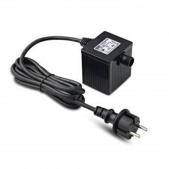 MARKSLOJD 106924 | Garden-24 Markslojd rendszerelem - LED tápegység 36W 24V vezetékkel, villásdugóval elátott IP64 fekete