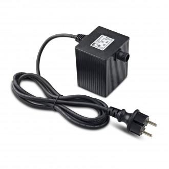 MARKSLOJD 106925 | Garden-24 Markslojd rendszerelem - LED tápegység 64W 24V vezetékkel, villásdugóval elátott IP64 fekete