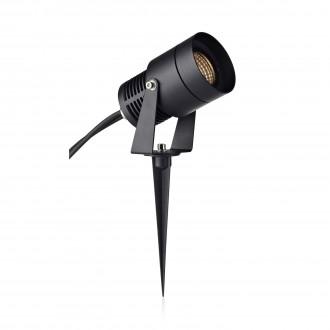 MARKSLOJD 106931 | Garden-24 Markslojd fali, mennyezeti, leszúrható lámpa szabályozható fényerő, elforgatható alkatrészek 1x LED 510lm 3000K IP44 fekete