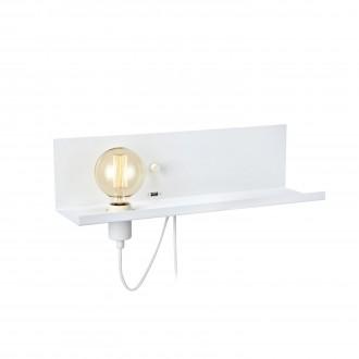 MARKSLOJD 106969 | Multi-MS Markslojd fali lámpa fényerőszabályzós kapcsoló szabályozható fényerő, USB csatlakozó 1x E27 fehér