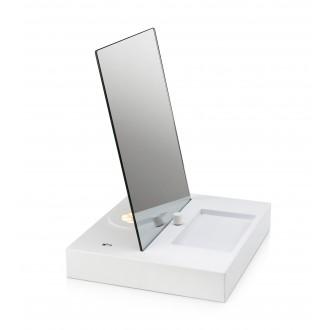 MARKSLOJD 107057 | Reflect Markslojd asztali lámpa 36cm fényerőszabályzós kapcsoló szabályozható fényerő, USB csatlakozó 1x LED 525lm 3000K fehér, tükör