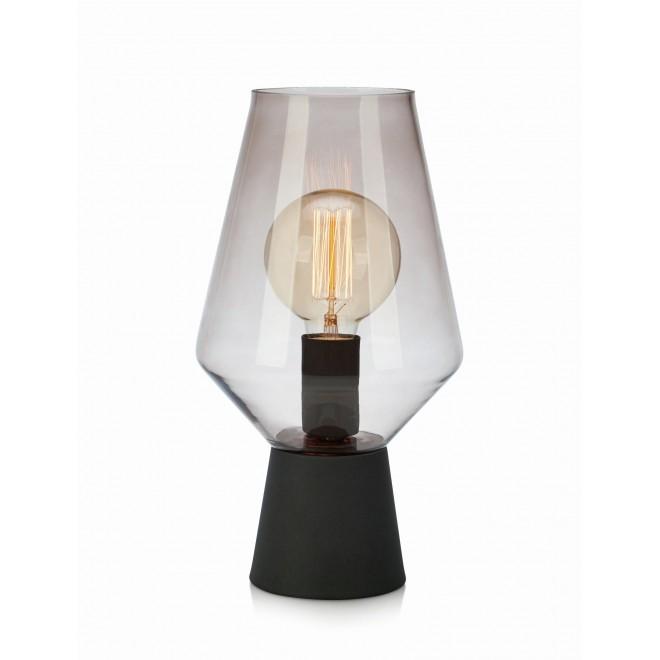 MARKSLOJD 107131 | Retro-MS Markslojd asztali lámpa 34,5cm kapcsoló 1x E27 fekete, füst, átlátszó
