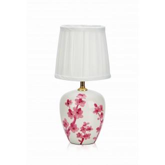 MARKSLOJD 107193 | Cherry Markslojd asztali lámpa 33cm kapcsoló 1x E14 fehér, pink, minta