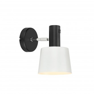 MARKSLOJD 107216 | Bodega Markslojd falikar lámpa kapcsoló elforgatható alkatrészek 1x E27 fekete, fehér
