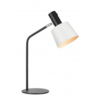 MARKSLOJD 107217 | Bodega Markslojd asztali lámpa 46cm kapcsoló elforgatható alkatrészek 1x E27 fekete, fehér