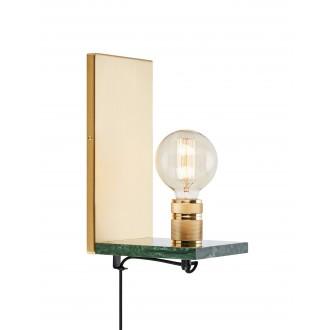 MARKSLOJD 107222 | Etui Markslojd falikar lámpa vezeték kapcsoló 1x E27 zöld márvány, sárgaréz