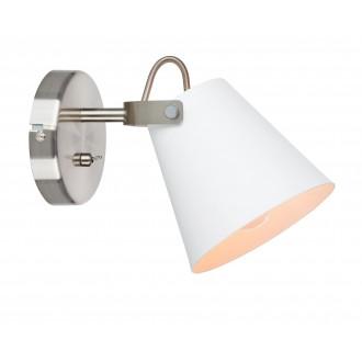 MARKSLOJD 107395 | Tribe-MS Markslojd falikar lámpa kapcsoló elforgatható alkatrészek 1x E14 fehér, acél