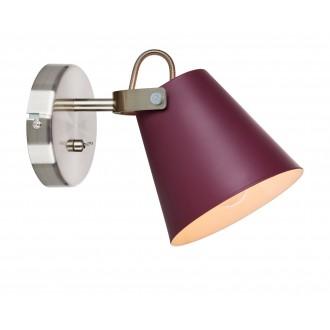 MARKSLOJD 107397 | Tribe-MS Markslojd falikar lámpa kapcsoló elforgatható alkatrészek 1x E14 burgundi, acél