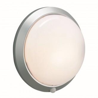 MARKSLOJD 125028 | Celtic-MS Markslojd fali lámpa mozgásérzékelő 1x E27 IP44 szürke, fehér