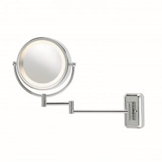 MARKSLOJD 246012 | Face Markslojd falikar tükör kapcsoló elforgatható alkatrészek 1x E14 IP21 króm, fehér, tükör