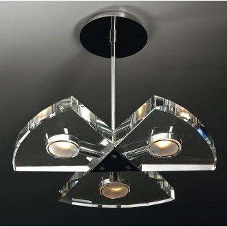 MAXLIGHT 120 12 12 01 | Venus Maxlight függeszték lámpa 3x G9 króm, átlátszó