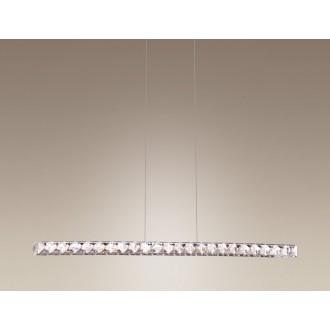 MAXLIGHT 2866 | Prezzio Maxlight függeszték lámpa 10x LED 720lm 3000K króm, átlátszó
