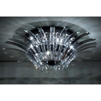MAXLIGHT 3960/12C | Kristal Maxlight mennyezeti lámpa 12x G4 króm, átlátszó