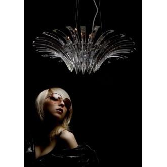 MAXLIGHT 3960/12P | Kristal Maxlight függeszték lámpa 12x G4 króm, átlátszó