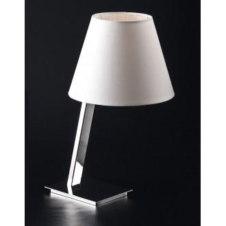 MAXLIGHT 5103T/WH | OrlandoM Maxlight asztali lámpa 44cm kapcsoló 1x E27 fehér, króm