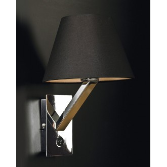 MAXLIGHT 5103W/BL | OrlandoM Maxlight fali lámpa kapcsoló 1x E27 fekete, króm