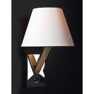MAXLIGHT 5103W/WH | OrlandoM Maxlight fali lámpa kapcsoló 1x E27 fehér, króm