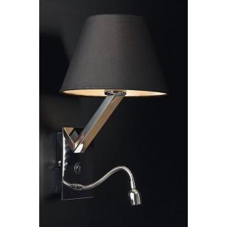MAXLIGHT 5103WA/BL | OrlandoM Maxlight fali lámpa kapcsoló flexibilis 1x E27 + 1x LED fekete, króm
