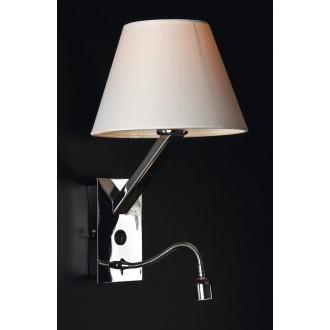MAXLIGHT 5103WA/WH | OrlandoM Maxlight fali lámpa kapcsoló flexibilis 1x E27 + 1x LED fehér, króm