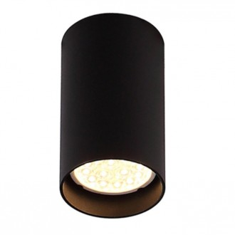 MAXLIGHT C0142 | Pet-Round Maxlight mennyezeti lámpa 1x GU10 fekete