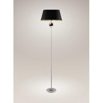 MAXLIGHT F0026 | Napoleon Maxlight álló lámpa 156cm 1x E27 króm, fekete, arany