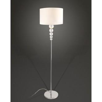 MAXLIGHT F0038 | EleganceM Maxlight álló lámpa 160cm kapcsoló 1x E27 fehér, króm, átlátszó