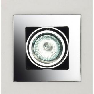 MAXLIGHT H0012   BoxM Maxlight beépíthető lámpa 110x110mm 1x MR16 / GU5.3 króm
