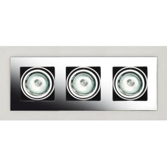 MAXLIGHT H0014   BoxM Maxlight beépíthető lámpa 280x110mm 3x MR16 / GU5.3 króm