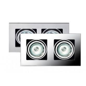 MAXLIGHT H0016   BoxM Maxlight beépíthető lámpa 195x110mm 2x MR16 / GU5.3 matt nikkel