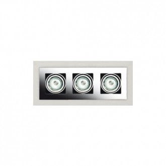 MAXLIGHT H0017 | BoxM Maxlight beépíthető lámpa 280x110mm 3x MR16 / GU5.3 matt nikkel