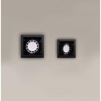 MAXLIGHT H0048 | MatrixM Maxlight beépíthető lámpa billenthető 185x185mm 1x G53 / AR111 fekete