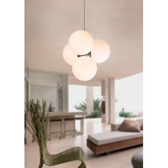 MAXLIGHT P0014 | BallM Maxlight függeszték lámpa 4x E14 króm, fehér
