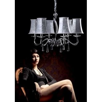 MAXLIGHT P0027 | LondonM Maxlight csillár lámpa 6x E14 króm, ezüst
