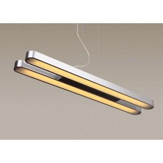 MAXLIGHT P0051 | Sparta Maxlight függeszték lámpa 2x G5 / T5 csiszolt alumínium