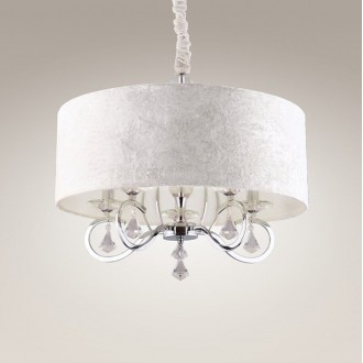 MAXLIGHT P0103 | Amsterdam Maxlight függeszték lámpa 5x E14 króm, fehér, átlátszó